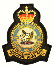 No. 28 Squadron Royal Air Force RAF Crest MOD Embroidered Patch